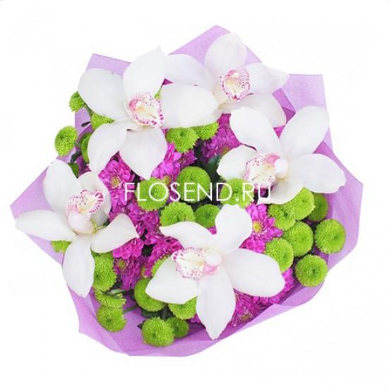 Букет из орхидей в капсулах - фото 3