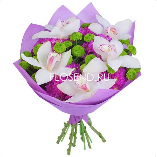 Букет из орхидей в капсулах - фото 4