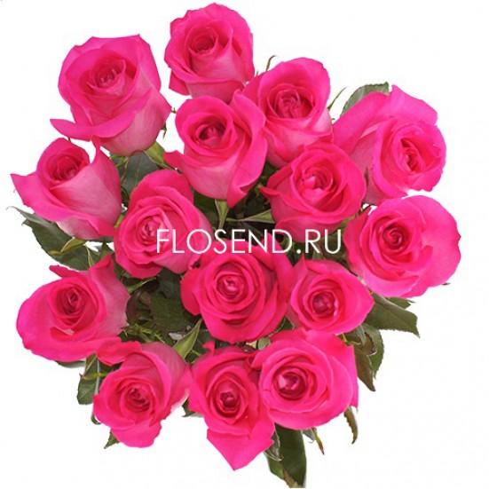 15 розовых роз - фото 2