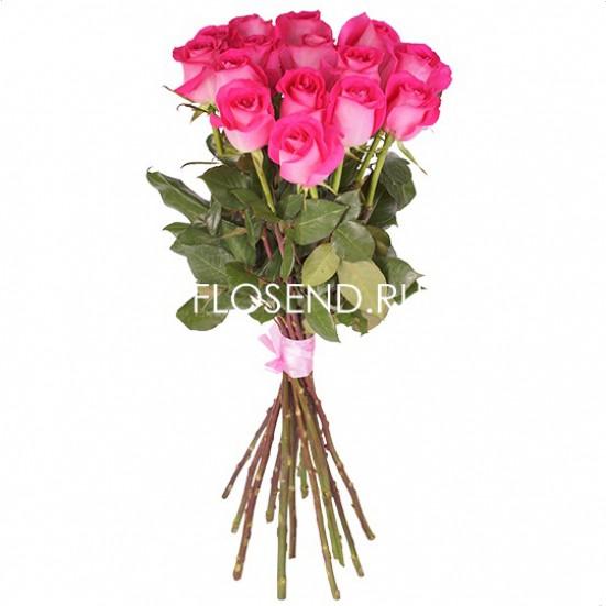 15 розовых роз - фото 3