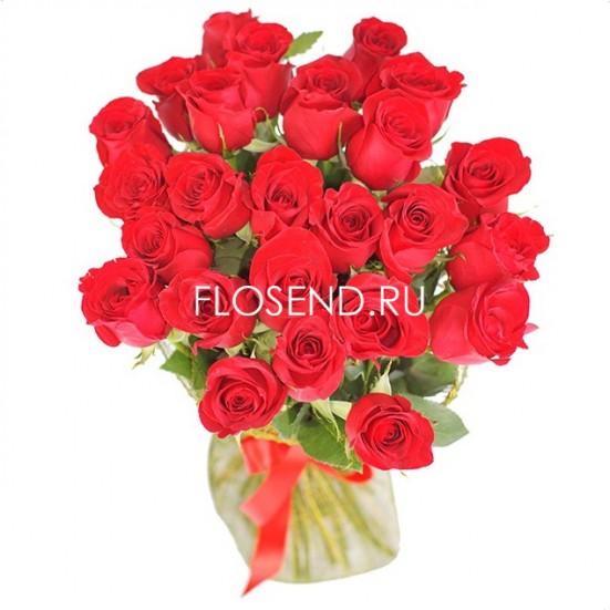 25 красных роз - фото 3