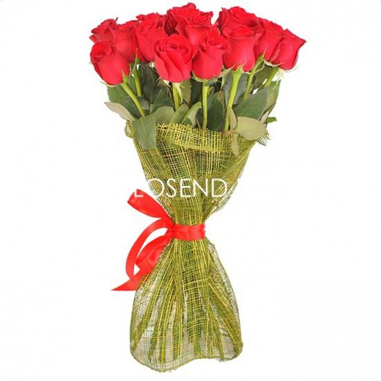 25 красных роз - фото 2
