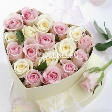Цветы в коробке № 196
